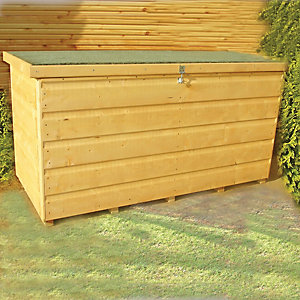 Wickes Large Shiplap Timber Lockable Garden Storage Box - 4 x 2 ft