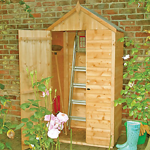 Wickes Shiplap Timber Lean-To Garden Tool Storage Shed  - 3 x 2 ft