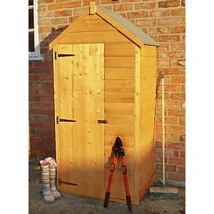 Wickes Small Overlap Timber Lean-To Garden Tool Storage Shed - 3 x 2 ft