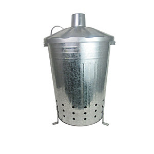 Apollo Galvanised Steel Garden Incinerator - 90L