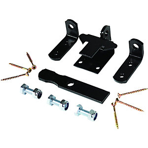 Wickes Metal Gate Fitting Kit - Black