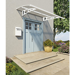 Palram Bordeaux Modern Polycarbonate Door Canopy - 1390 x 2235 mm & Door Canopies | External Doors | Wickes.co.uk