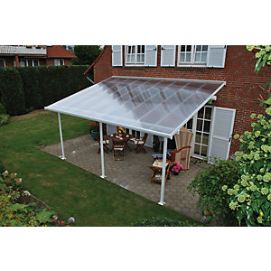 Palram Feria Polycarbonate Patio Canopy White - 2950 x 5460 mm  sc 1 st  Wickes & Door Canopies | External Doors | Wickes.co.uk