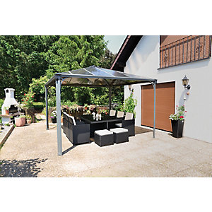 Palram Palermo Polycarbonate Garden Gazebo Grey - 3600 x 3600 mm  sc 1 st  Wickes & Gazebos u0026 Canopies | Garden Sheds u0026 Greenhouses | Wickes.co.uk