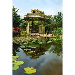 Rowlinson Oriental Timber Pagoda - 4025 x 3290 mm