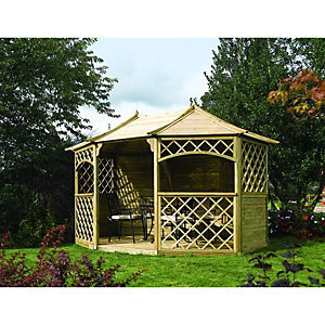 Rowlinson Sandringham Timber Gazebo - 3940 x 3000 mm