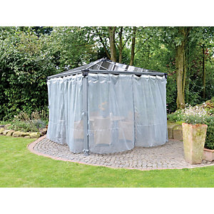 Palram Palermo Polyester Gazebo Netting White - Pack of 2 (4 Pieces)