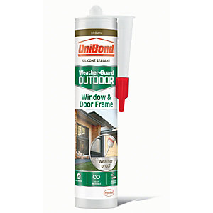 UniBond Outdoor Window & Door Frame Sealant - Brown 300ml