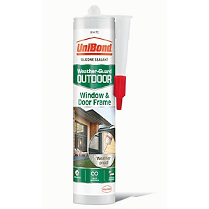 UniBond Outdoor Window & Door Frame Sealant - White 300ml