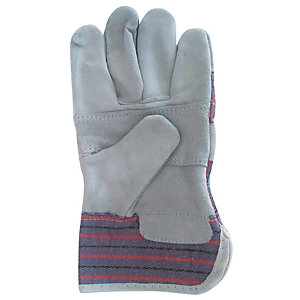Wickes Standard Grey Rigger Gloves - One Size