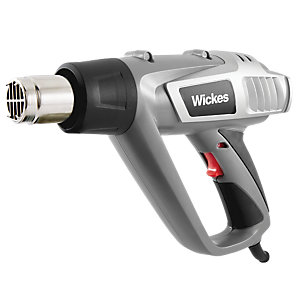 Wickes Multi-purpose Hot Air Heat Gun with Attachments - 2kW