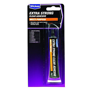 Wickes Extra Strong Multi Purpose Clear Adhesive - 32g