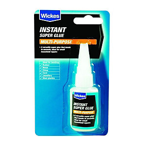 Wickes Multi-Purpose Instant Super Glue - 20g