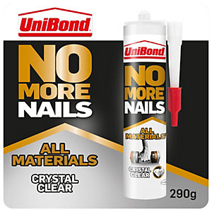 Unibond No More Nails All Materials Crystal Clear Cartridge - 290g