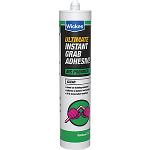 Wickes Ultimate Instant Grab Adhesive Clear - 290ml