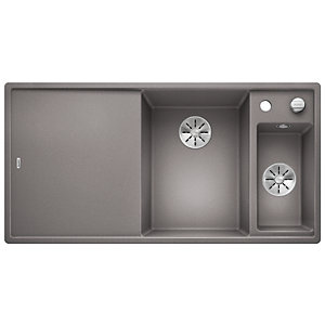 Blanco Axia 1.5 Bowl Silgranit Undermount Kitchen Sink - Grey