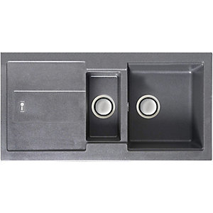Carron Phoenix Bali 150 1.5 Bowl Composite Sink Grey