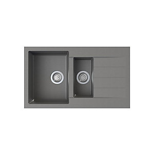 Helio 1.5 Bowl Composite Kitchen Sink - Grey