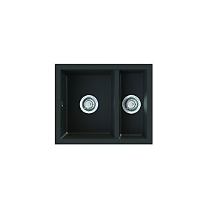 Onyx Undermount 1.5 Bowl Composite Kitchen Sink - Black