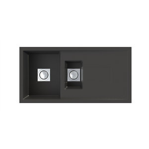 Sigma 1.5 Bowl Composite Kitchen Sink - Black