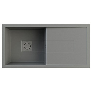 Sigma Single Bowl Composite Kitchen Sink - Graphite