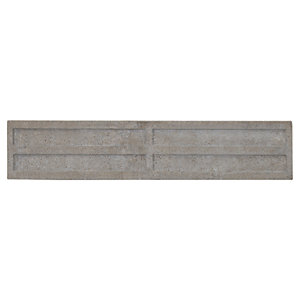 Wickes Recessed Concrete Gravel Board - 50mm x 300mm x 1.8m