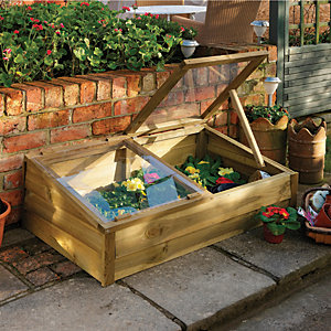 Forest Garden 1 x 3 ft Large Wooden Overlap Cold Frame