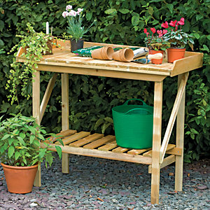 Forest Garden Small Smooth Planed Potting Bench