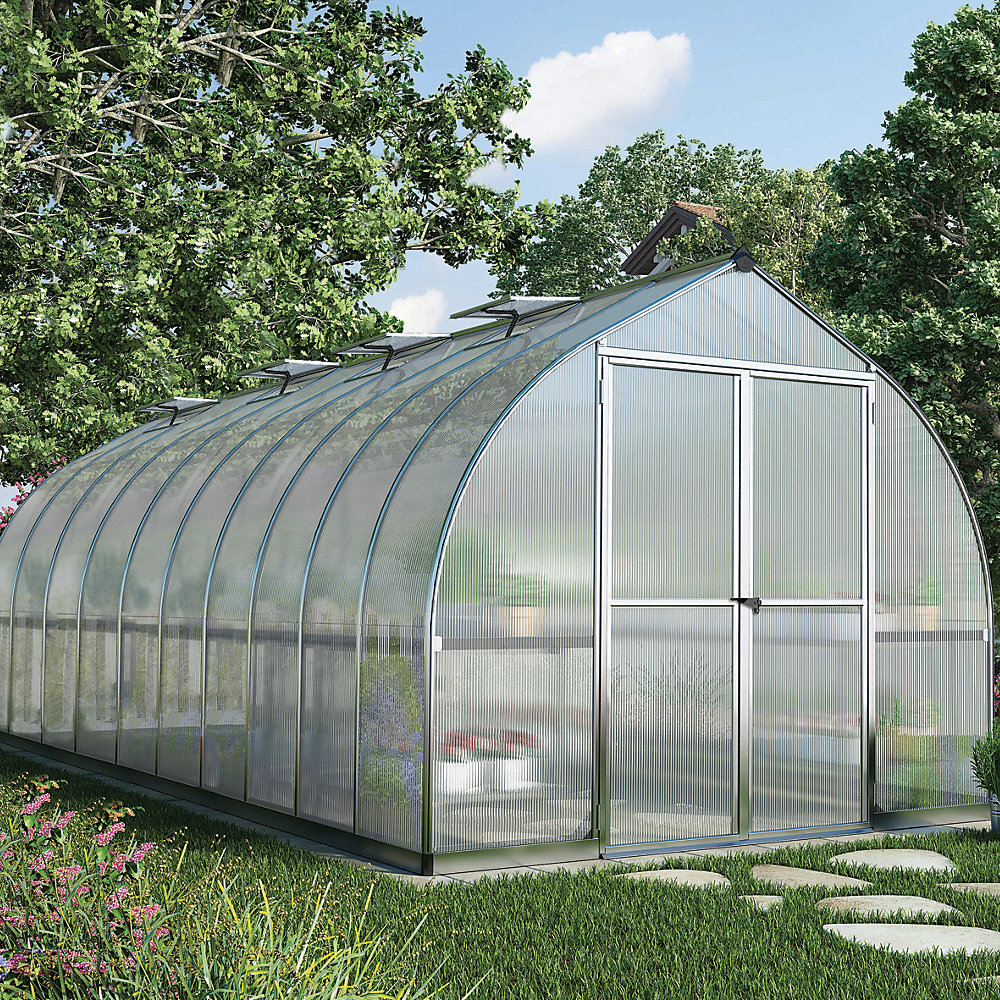 Curved apex greenhouses