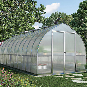 Curved apex greenhouse