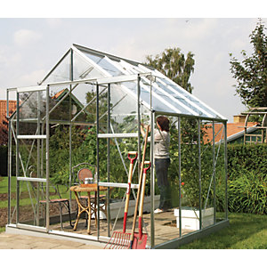 Vitavia Jupiter 8 x 8 ft Toughened Glass Greenhouse