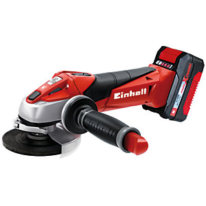 Einhell Power X-Change TE-AG 18 Li 18V Cordless Angle Grinder Kit