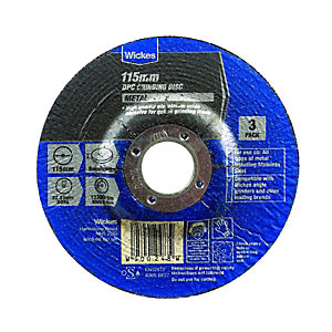 Wickes DPC Metal Grinding Disc 115mm - Pack of 3