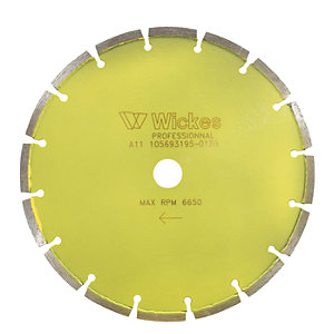 Wickes Diamond Tile Saw Cutting Blade - 230mm