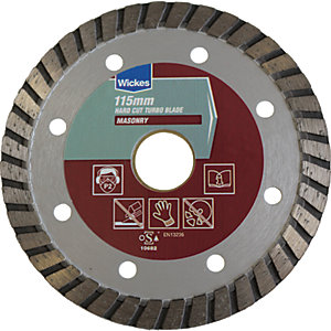 Wickes Hard Cut Masonry Turbo Blade - 115mm