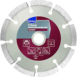 Wickes Mortar Raking Wet & Dry Cutting Diamond Blade - 115mm