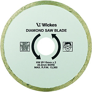 Wickes Tile Saw Diamond Cutting Blade - 110mm