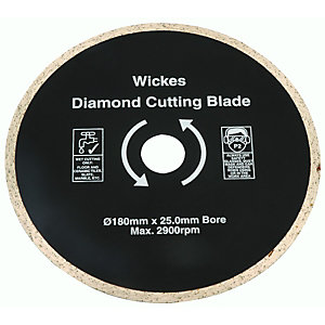 Wickes Tile Saw Diamond Cutting Blade - 180mm