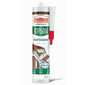 UniBond Roof & Gutter Sealant - Black 300ml