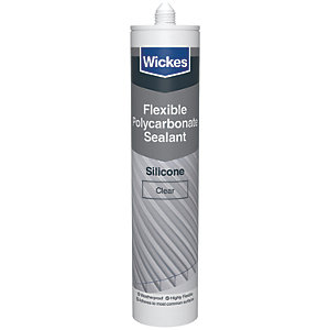 Wickes Flexible Polycarbonate Sealant Clear 300ml