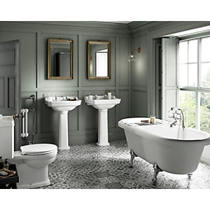 Hamilton Bathroom Suite - Toilet, Basin & Roll Top Bath