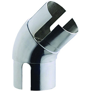 Wickes Handrail 135 Degree Elbow - Chrome