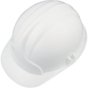 Wickes PVC Safety Helmet White