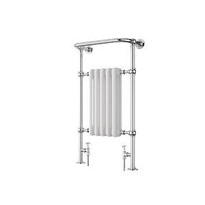 Wickes Etiquette Designer Towel Radiator - Chrome/White 1510 x 510 mm