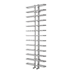Wickes Ripple Designer Towel Radiator - Chrome 1200 x 500 mm