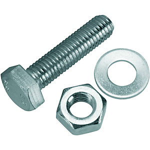 Wickes Hexagonal Set Screws - M10 x 40mm Pack of 6