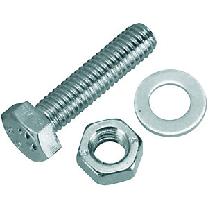 Wickes Hexagonal Set Screws - M5 x 20mm Pack of 20