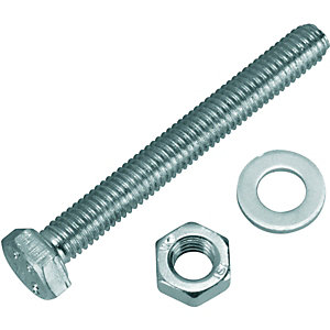 Wickes Hexagonal Set Screws - M6 x 50mm Pack of 10