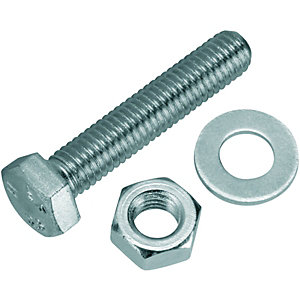 Wickes Hexagonal Set Screws - M8 x 40mm Pack of 10