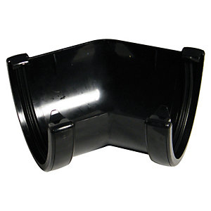 FloPlast 115mm High Capacity Gutter Angle 135° - Black